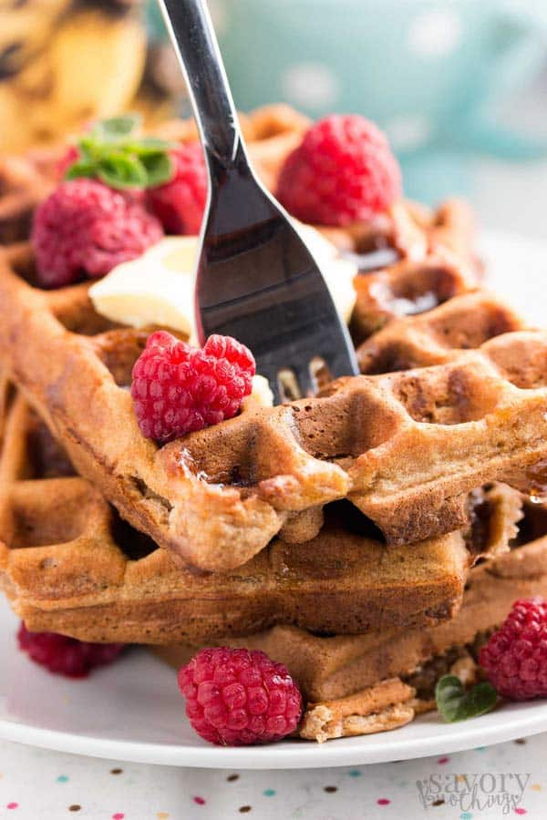 These easy homemade banana waffles are a hit at our house! Love the healthy ingredients.