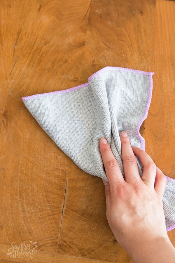 The 3 Step After Dinner Routine: Wipe down the dining table.
