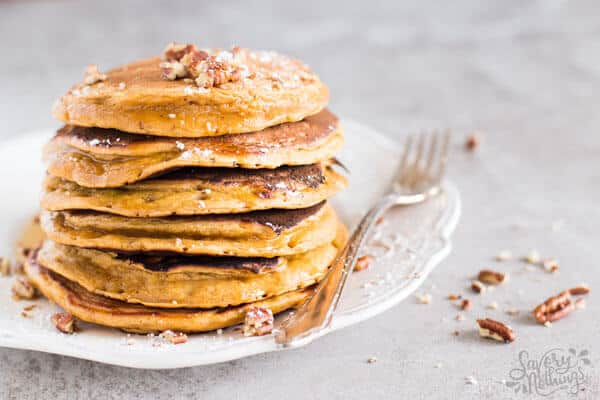 You know what fall is all about, right? Fluffy pumpkin pancakes of course!