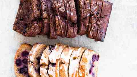 sliced whole wheat banana breads