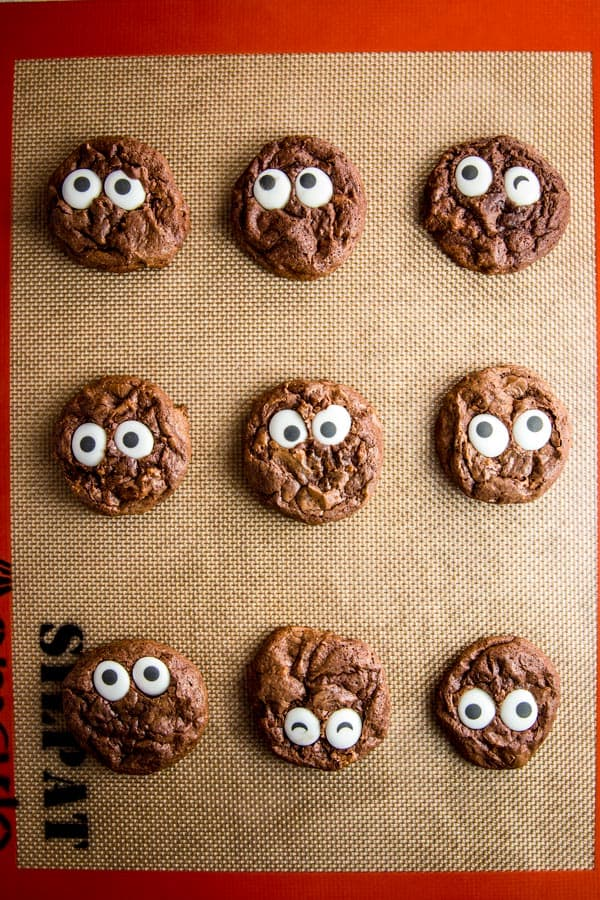Make some cute monster cookies for Halloween this year! They are SO easy to make, your kids will love helping!