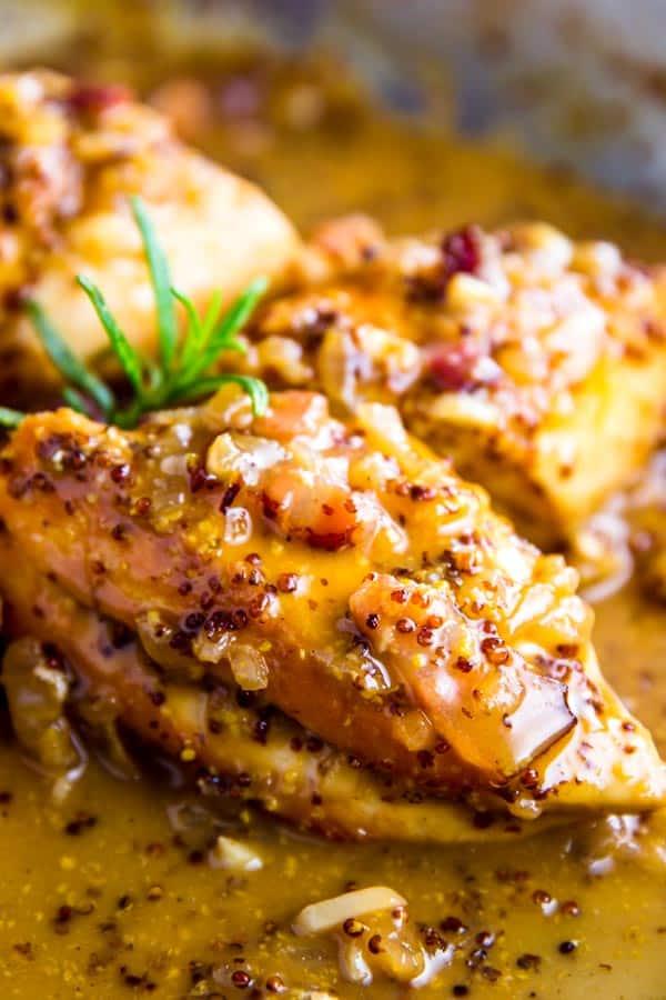 Honey Mustard Chicken in the pan
