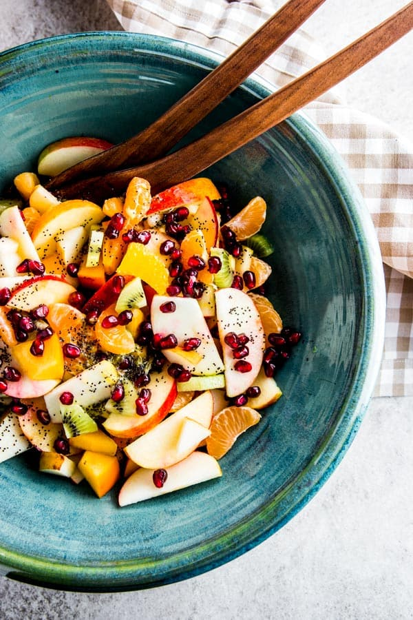 This winter fruit salad is a healthy way to get your vitamins during the colder months.