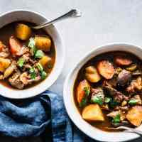 Landscape image for Guinness beef stew recipe.