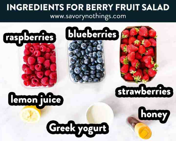 ingredients for berry salad