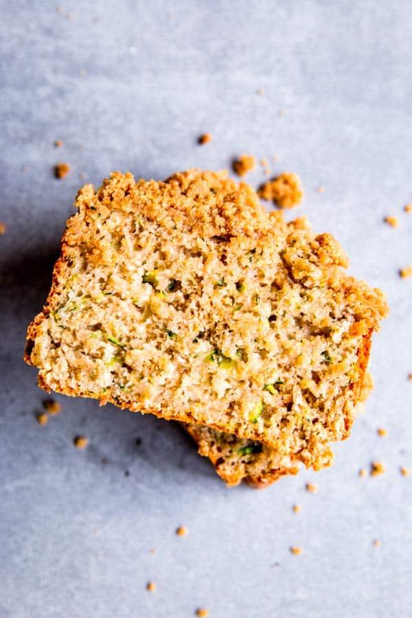 zucchini bread silicon the counter