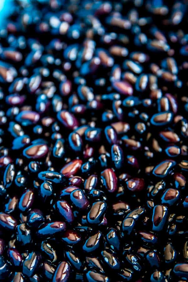 drained soaked black beans