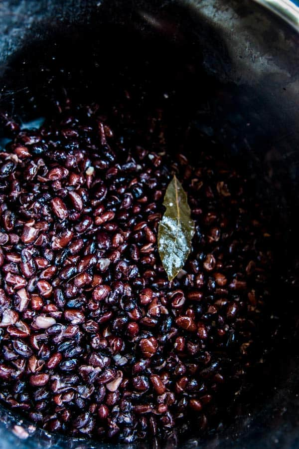 cooked beans in the instant pot