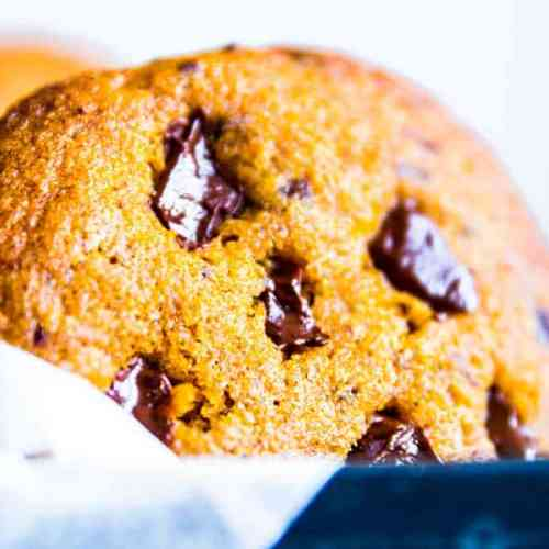 pumpkin chocolate chip cookie in a box