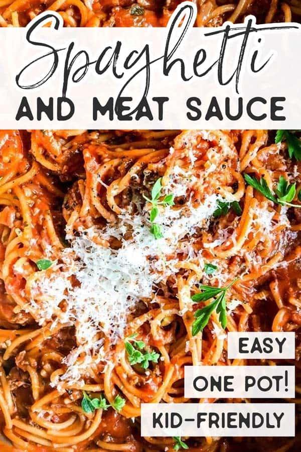 Spaghetti Meat Sauce Pin 1