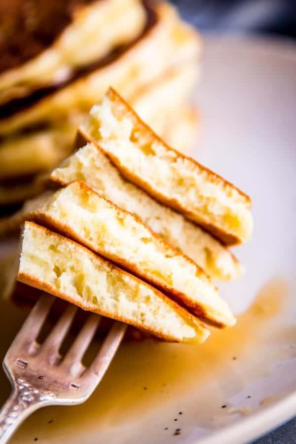 cut up buttermilk pancakes
