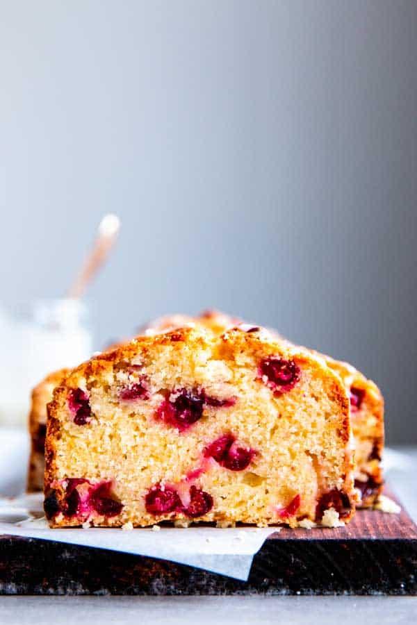 loaf of cranberry berry orange bread