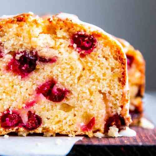 close up photo of cranberry orange bread