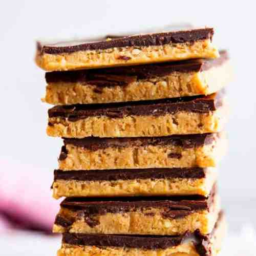 No Bake Chocolate Peanut Butter Bars Image TK