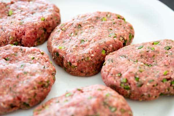 uncooked salisbury steak