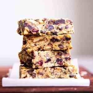 stack of healthy homemade granola bars