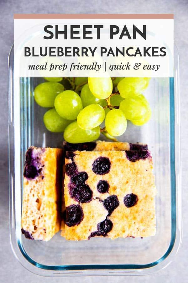 Sheet Pan Blueberry Pancakes Image Pin