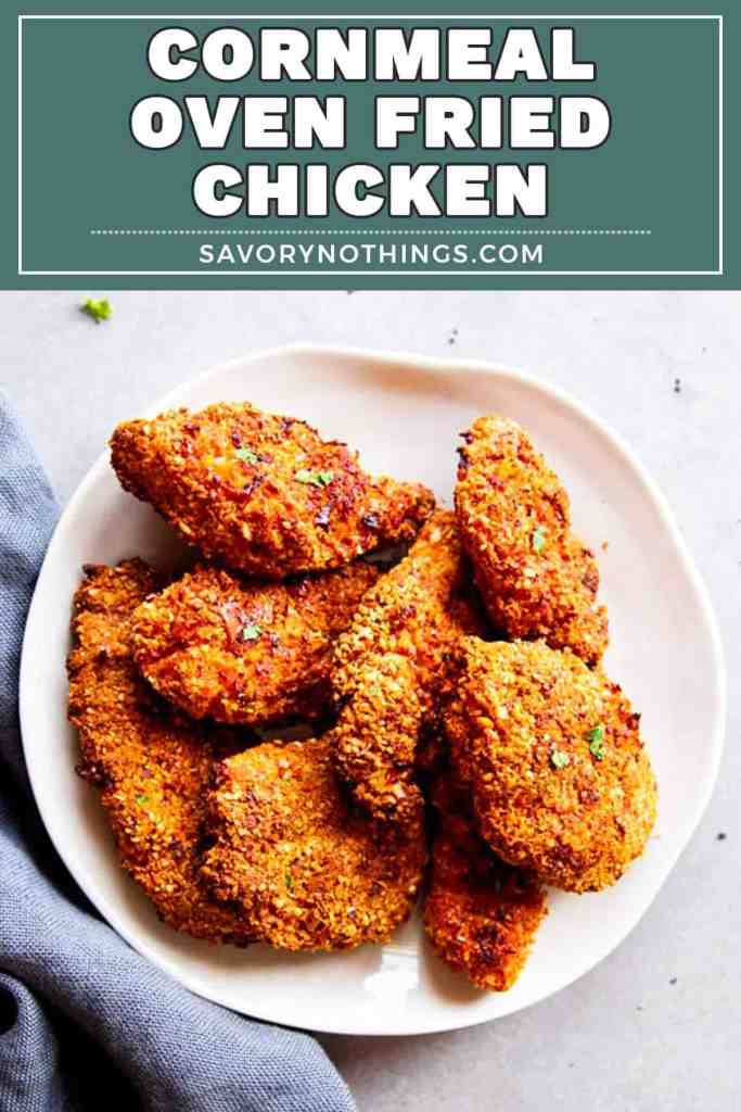Cornmeal Oven Fried Chicken Pin 2