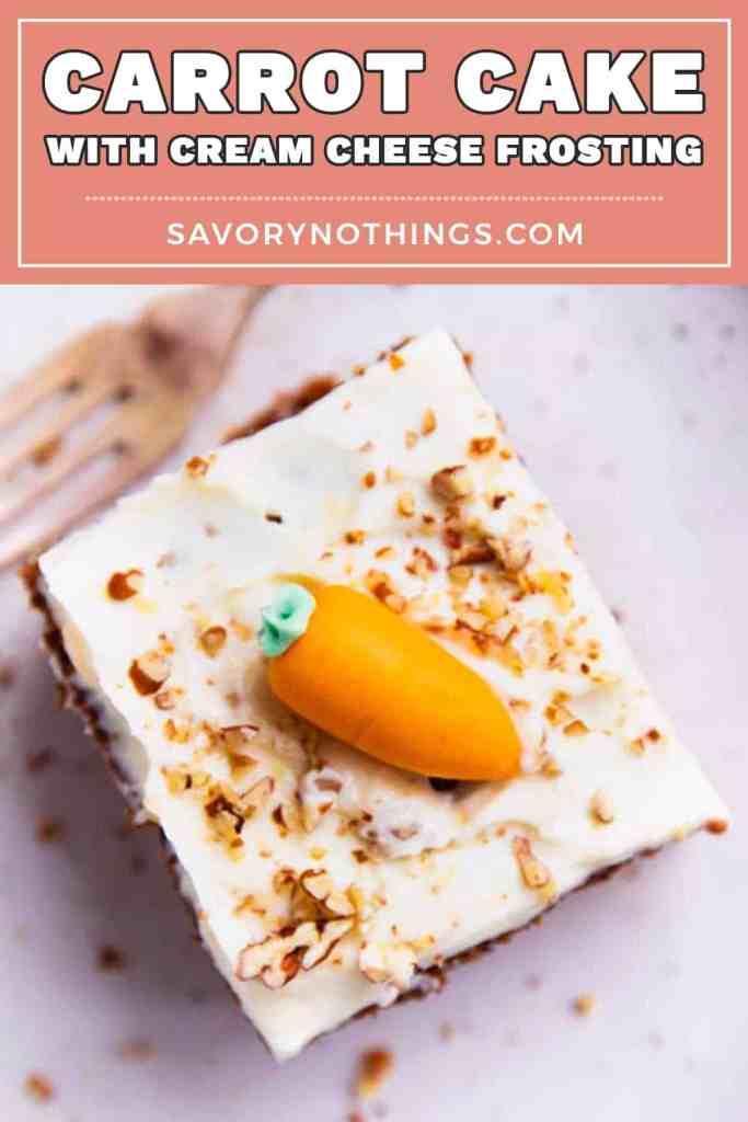 Easy Carrot Cake Image Pin 1