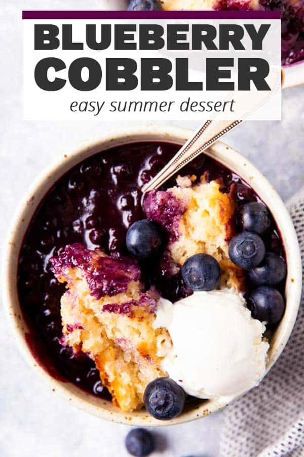 Easy Blueberry Cobbler Image Pin 1