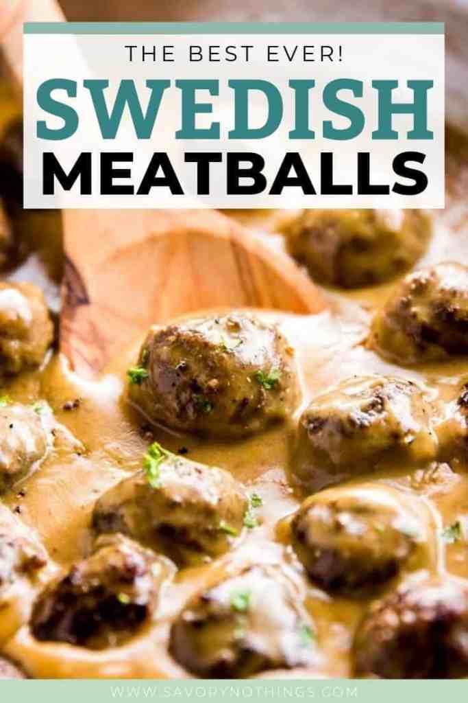 Easy Swedish Meatballs Pin 1