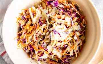 bowl with no mayo coleslaw