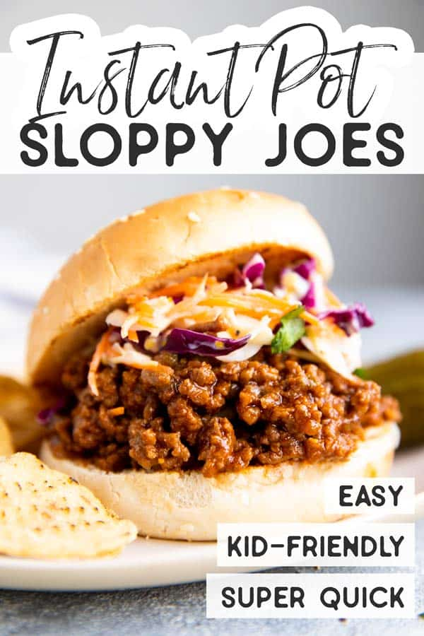 Instant Pot Sloppy Joes Pin 1