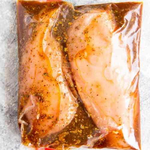 tiptop bag with balsamic marinated chicken