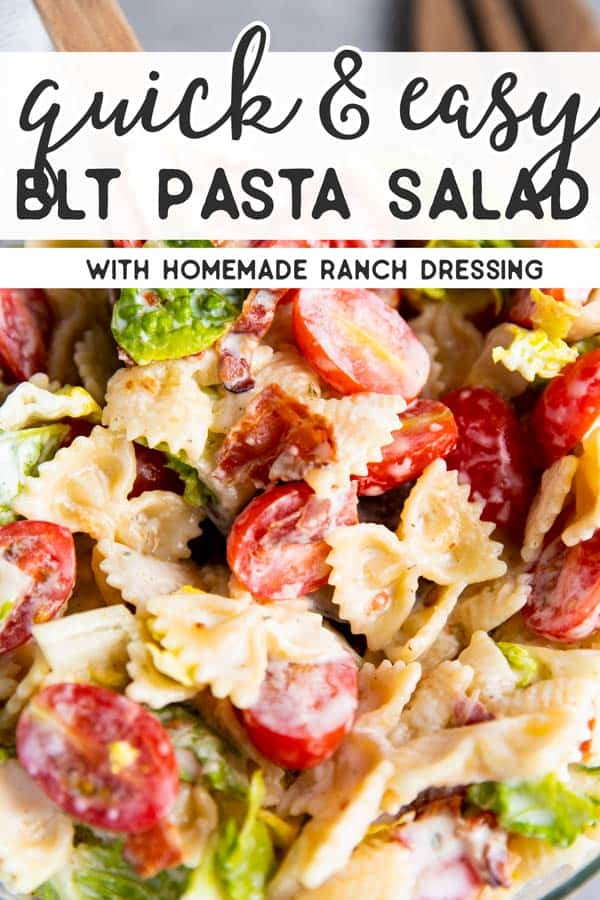 BLT Pasta Salad Pin 1
