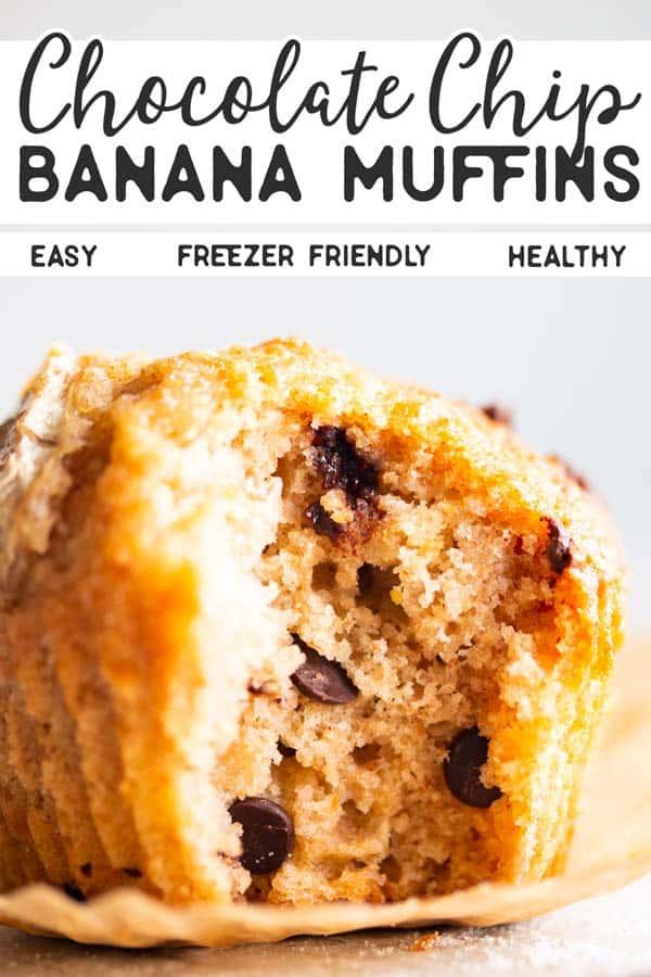 Chocolate Chip Banana Muffins Pin 2