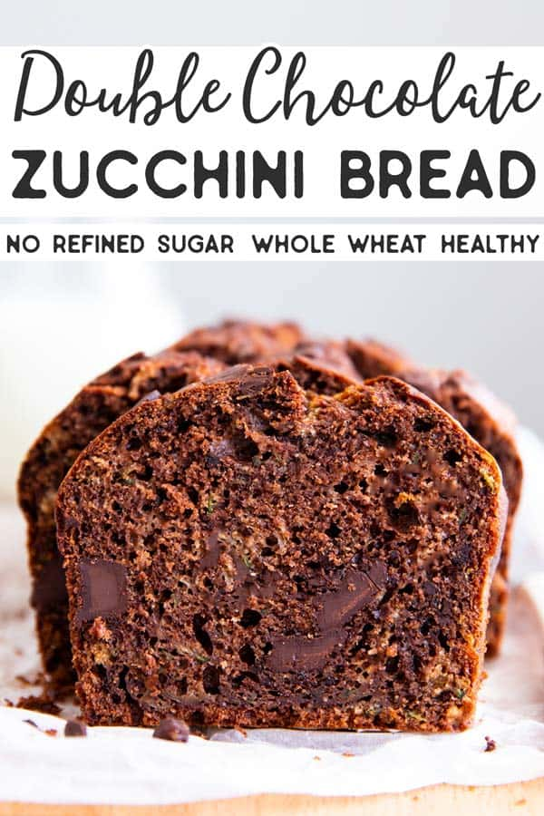 Healthy Double Chocolate Zucchini Bread Pin 2