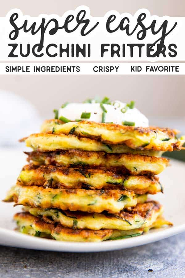 Easy Zucchini Fritters Pin 1
