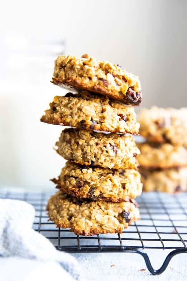 stack of healthy breakfast cookies