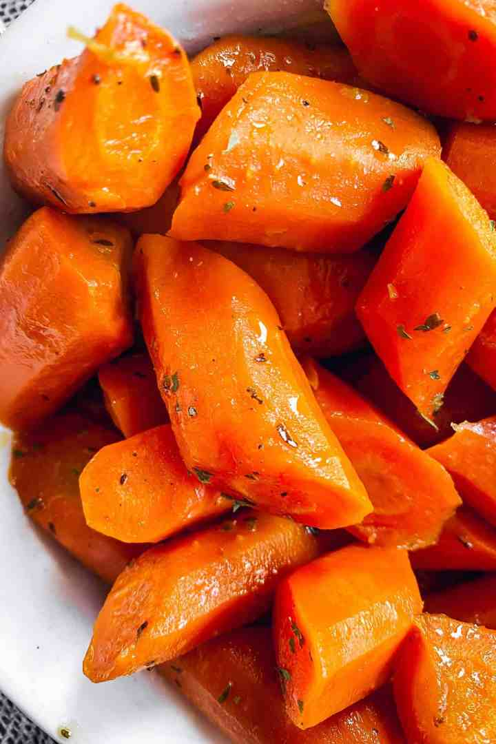 close up photo of glazed carrots