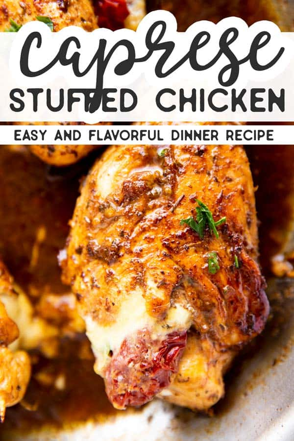 Stuffed Caprese Chicken Pin 1