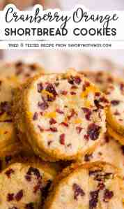 Cranberry Orange Shortbread Pin