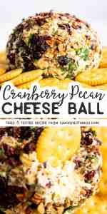 Cranberry Pecan Cheeseball Image Pin