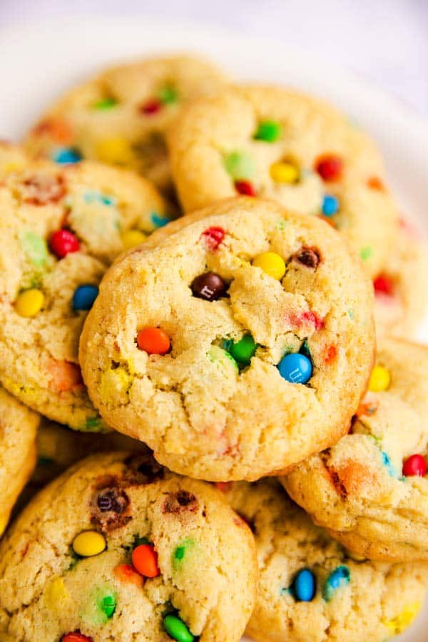 pile of M&M cookies