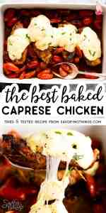 Baked Caprese Chicken Image Pin