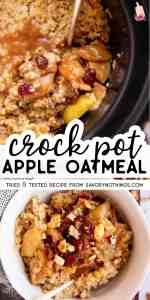 Crockpot Apple Cinnamon Oatmeal Pin