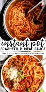 Instant Pot Spaghetti and Meat Sauce Pin