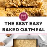 Baked Oatmeal Image Pin