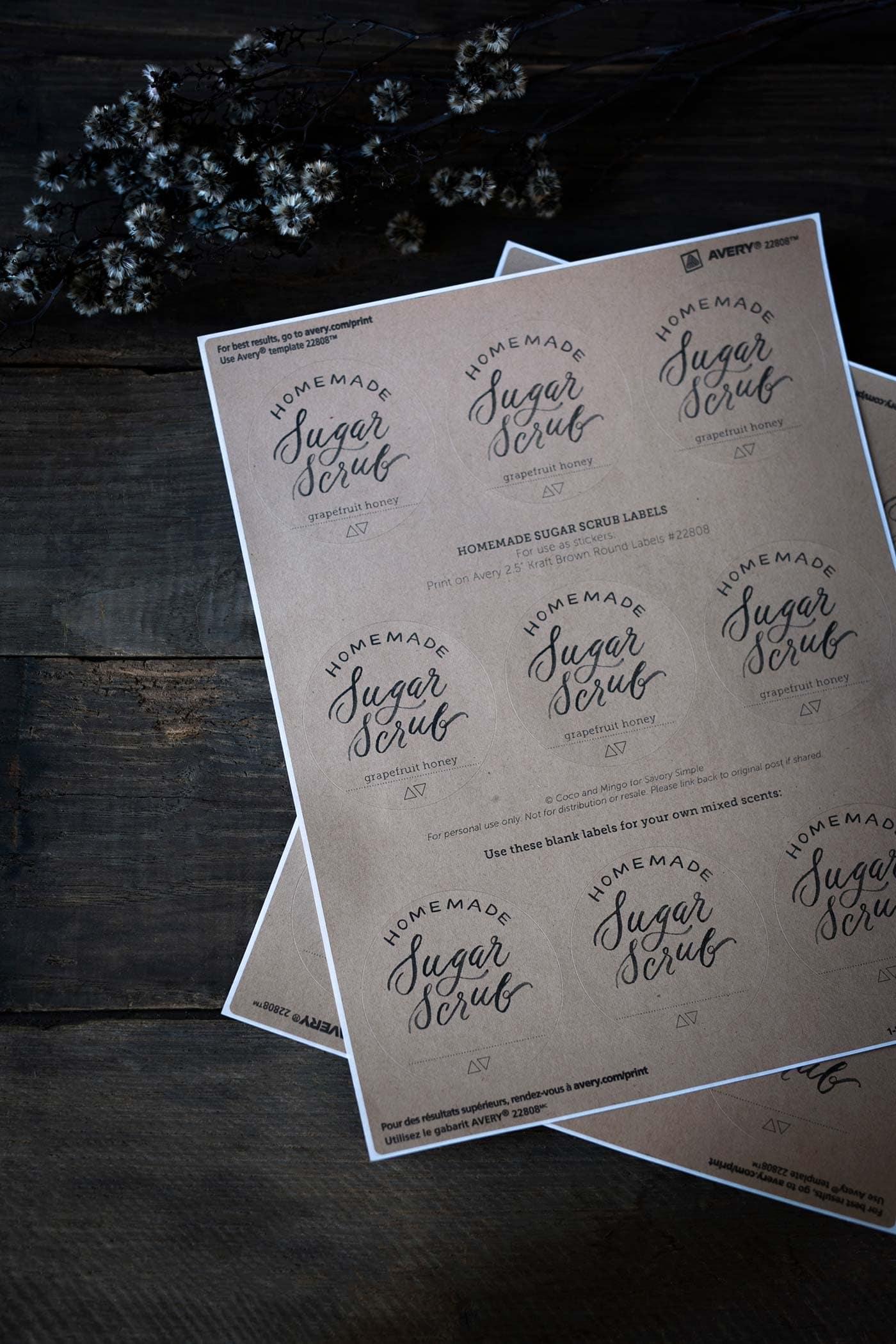G Fruit Honey Sugar Scrub Free Printables