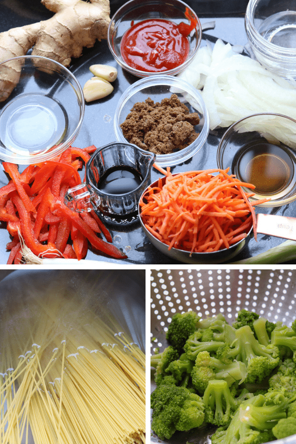 This Vegetable Lo Mein Recipe is prepared with a handful selection of vegetables. It is ready in 30 minutes or less and contain ingredients such as sriracha sauce for a little heat, sesame oil, brown sugar and soy sauce to name a few.