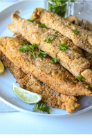 This pan fried whiting fish is a southern classic that is never a disappointment. This recipe works for many reasons: it is extremely easy prepare. It is gluten free. It is incredibly delicious. And fries well in minutes. #friedhwhitingfish #whitingfish #friedfish #whiting #howtocookwhitingfish
