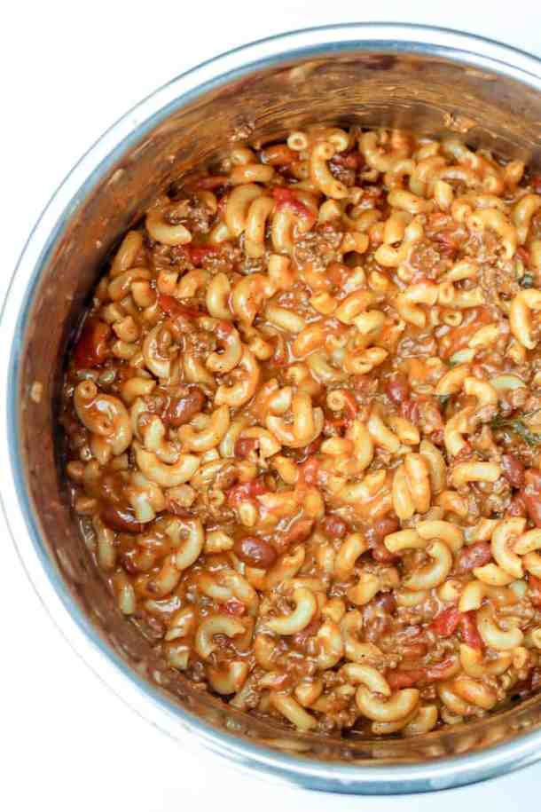 Chili Mac and Cheese in the Instant Pot