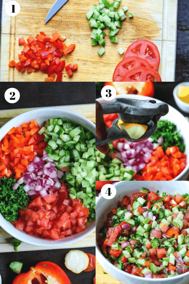 Step by step guide on how to make Israeli salad