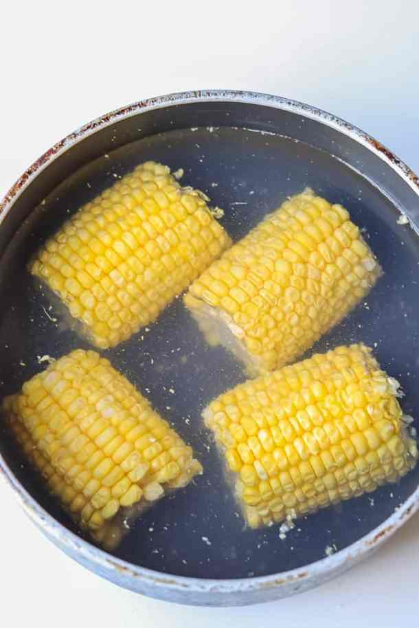 Boiled Corn - Easy Grilled Marinated Country Style Ribs #MarinadesWithMazola #MakeItWithHeart #CollectiveBias
