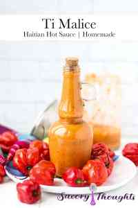 Ti Malice Hot Sauce in a bottle