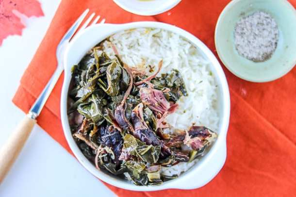 instant pot greens with rice